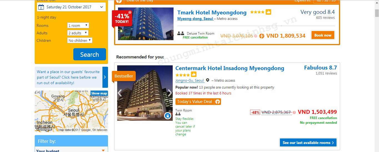 danh sách khách sạn