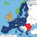 bản đồ schengen