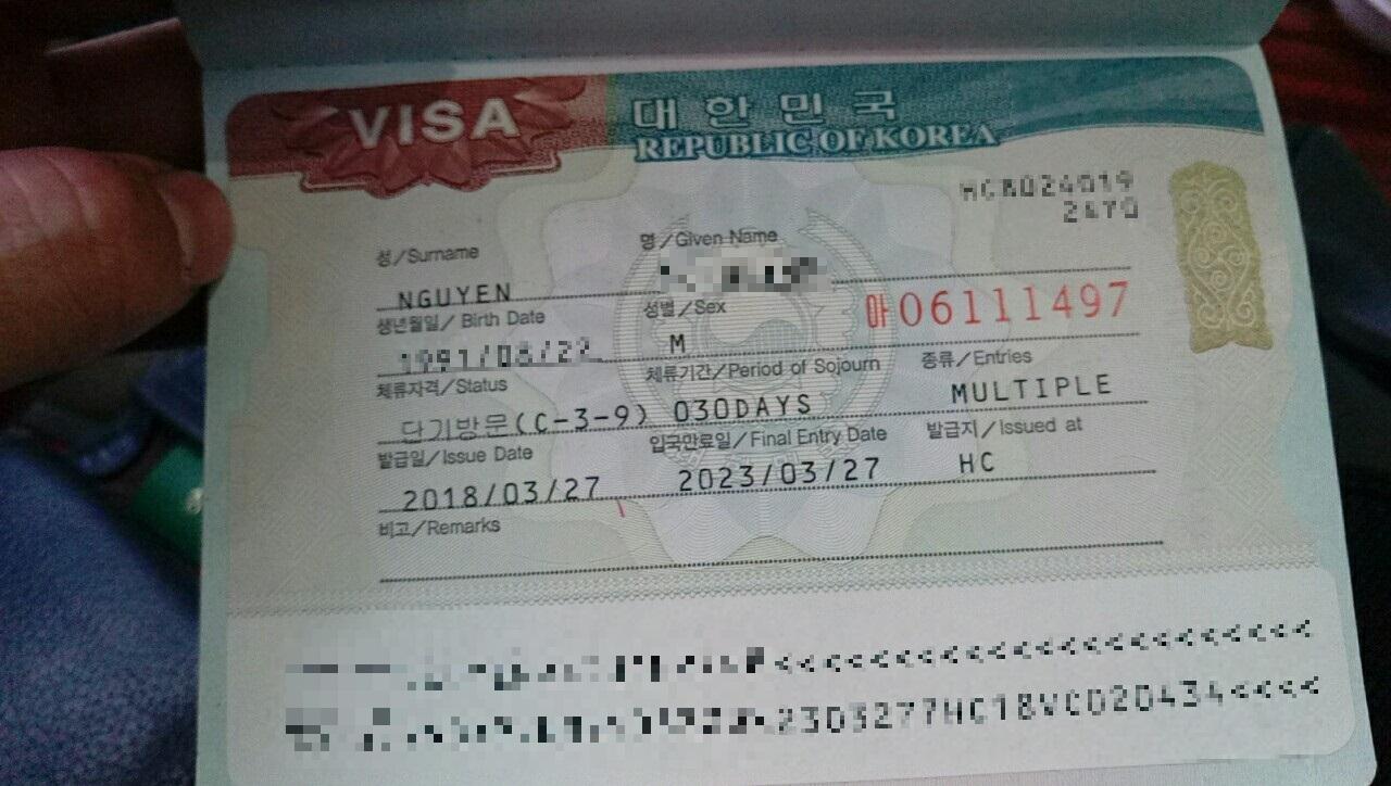 visa hàn quốc 5 năm nhập cảnh nhiều lần