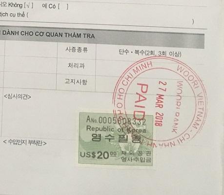 Tem visa Hàn Quốc