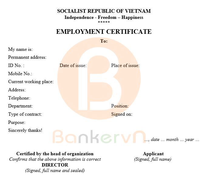 Mẫu giấy xác nhận công tác bằng tiếng Anh, song ngữ Anh - Việt