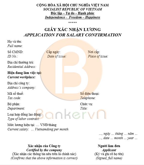 mẫu giấy xác nhận lương song ngữ 03