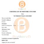 mẫu giấy xác nhận thu nhập cá nhân không quốc hiệu 02