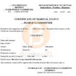Bản mẫu dịch giấy xác nhận tình trang hôn nhân sang tiếng Anh