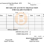 Bản mẫu dịch sao kê tài khoản ngân hàng sang tiếng Anh