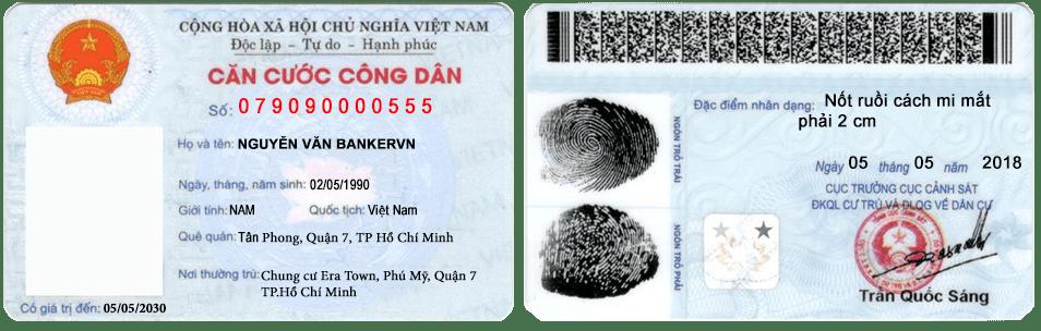 thông tin trên thẻ căn cước công dân