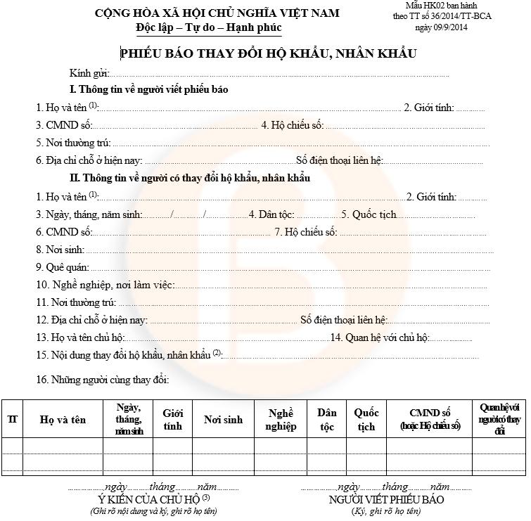 phiếu thay đổi hộ khẩu, nhân khẩu hk02