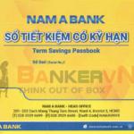 Sổ tiết kiệm ngân hàng Nam Á