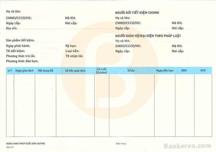 Dịch vụ chứng minh tài chính NCB