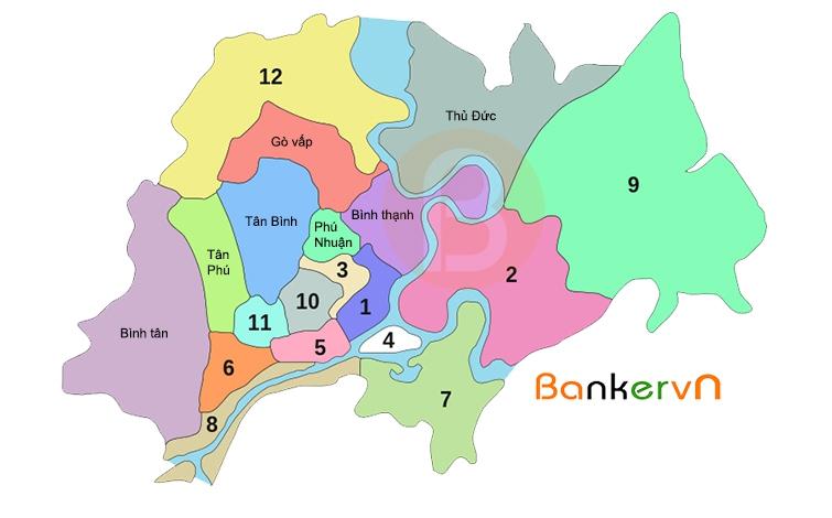 bản đồ địa giới các quận huyện thành phố hồ chí minh