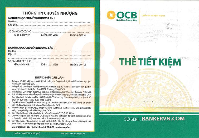 Dịch vụ chứng minh tài chính OCB