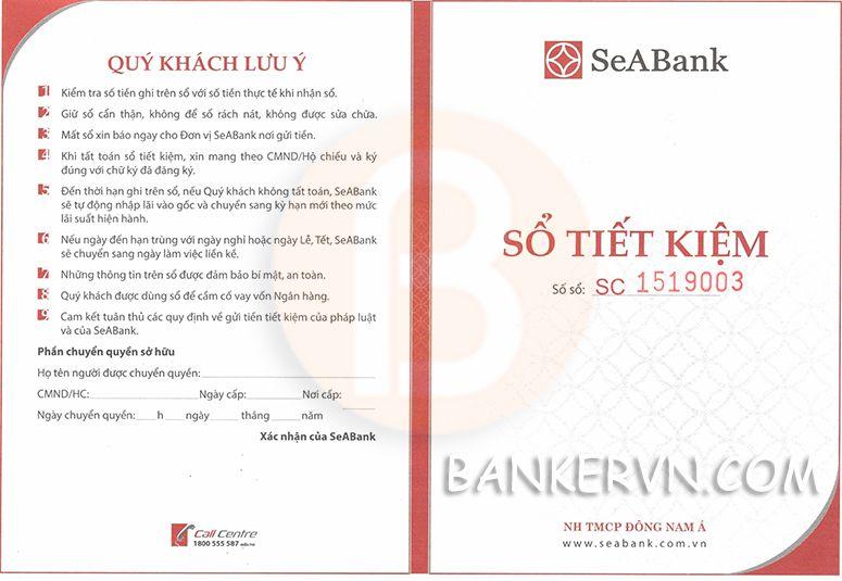 Chứng minh tài chính SeABank